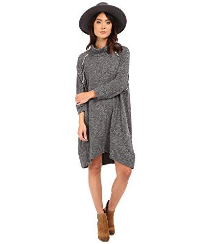 Free People Charcoal (Free People Terris Cowl Dress (Charcoal) Size M/L (M/L))