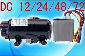 GOWE 48 V compresor eléctrico para encontrar refugio batería refrigerador al mueble como aire acondicionado dc accionado coche eléctrico: Amazon.es: ...
