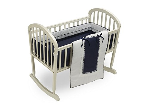 BabyDoll Royal Cradle Bedding Set, Navy baby doll bedding 535cr36