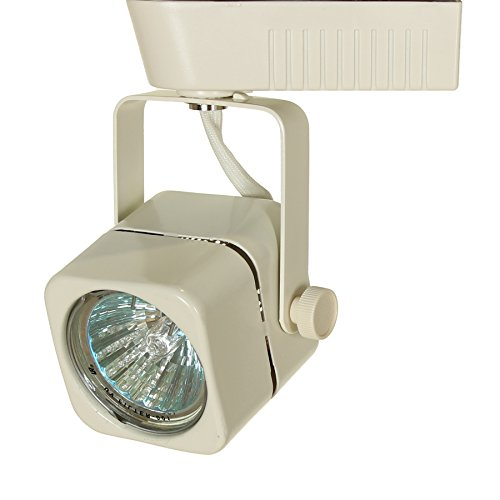Direct-Lighting 50012 White MR16 Square Low Voltage Track Lighting Head - Low Voltage Track Lighting