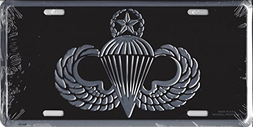 Army Master Paratrooper Wings License Plate