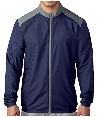 Jacket Wind Golf (adidas Golf Men's Club Wind Jacket, Navy, Large)