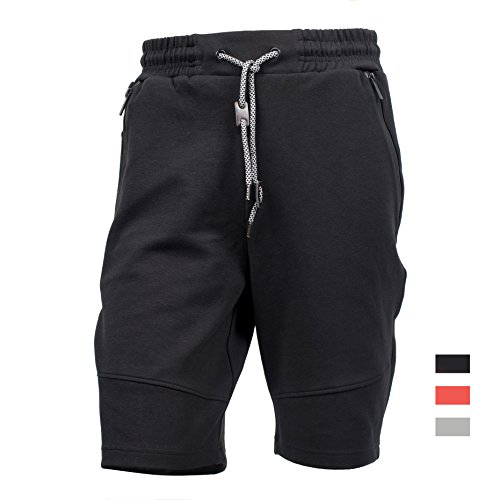 Cargo Classic Shorts (Yes Way Men's Classic Fit Casual Soft Fleece Cargo Short Pants-Black M)