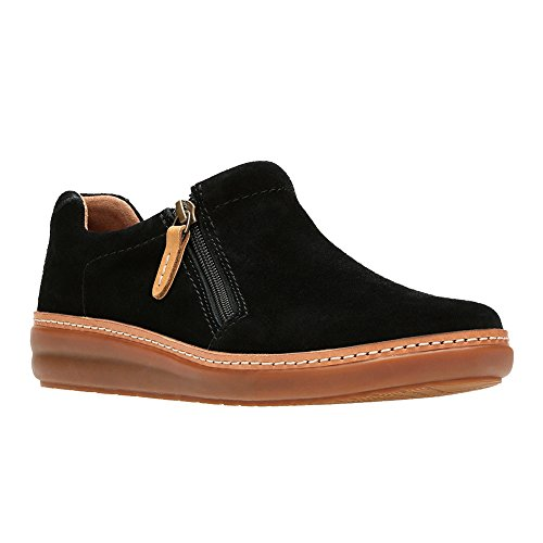 Clarks Womens Amberlee Vita Black Suede Slip-On - 7 M