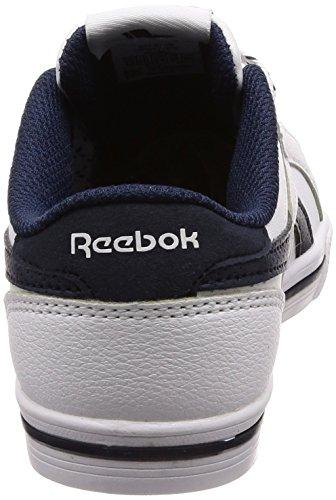 Reebok Jungen Royal Comp 2l Fitnessschuhe, Schwarz weiß (White/Collegiate Navy 000)