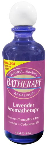 Batherapy Natural Mineral Bath Liquid, Lavender Aromatherapy, 16 Ounce (Pack of 3)