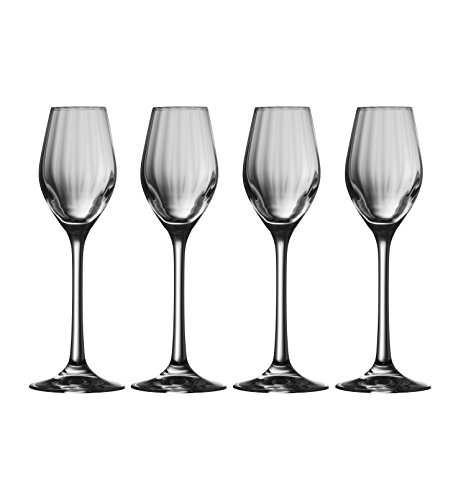- Galway Crystal 32005/4 Erne Sherry/Liqueur (Set of 4) Snifter Glasses, Transparent