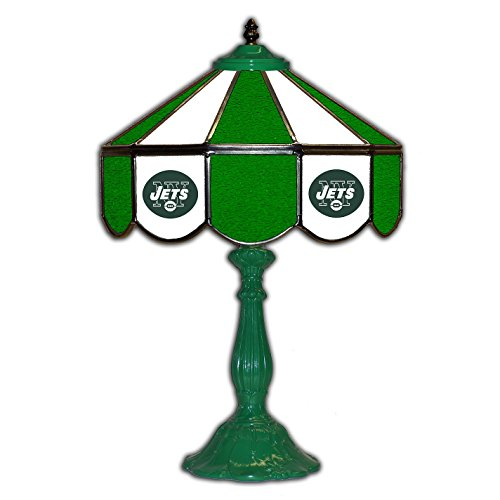 New York Jets 21 Glass Table Lamp