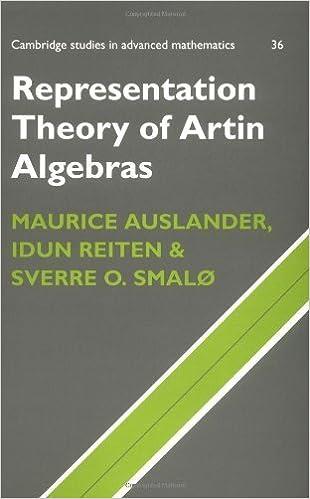 Representation Theory of Artin Algebras (Cambridge Studies in Advanced Mathematics) by Maurice Auslander (1997-08-28)