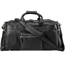 Weekender Travel, Duffle Genuine Leather Luggage Bag