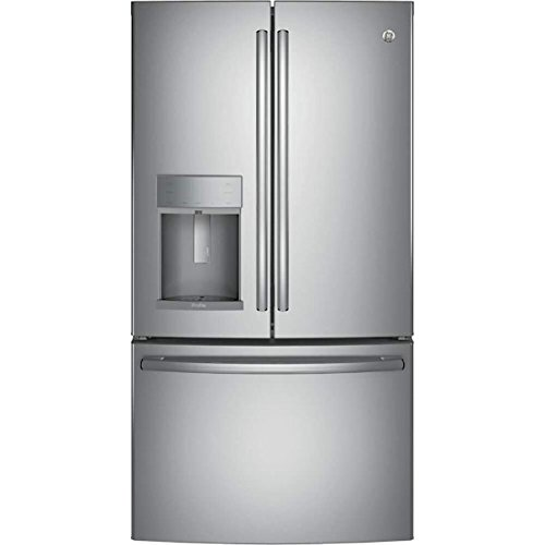 GE PFE28KSKSS Profile 27.8 Cu. Ft. Stainless Steel French Door Refrigerator - Energy Star (Refrigerator Stainless Steel Ge Profile)