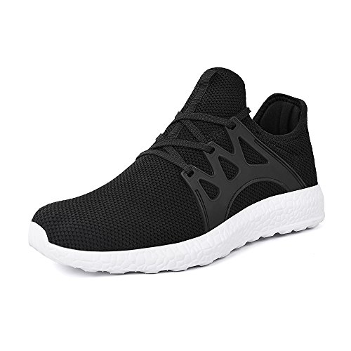 - Mxson Women Tennis Shoes Ultralight Comfortable Walking Running Shoes Black White 9.5B(M) US