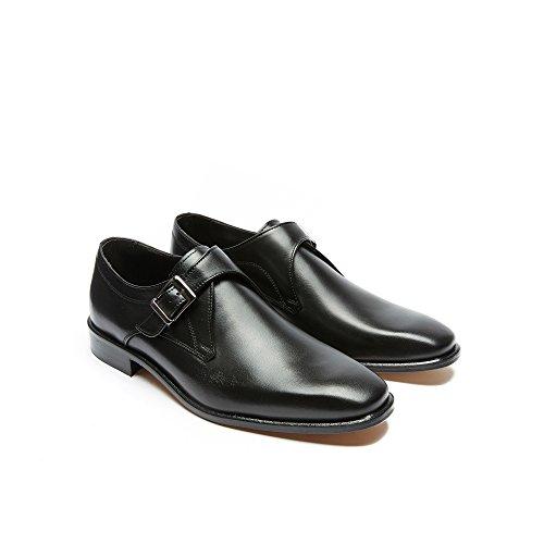 Chaussure avec Italy Cuir en Hommes Classique in Bracelet Noir Made rrx5Pq