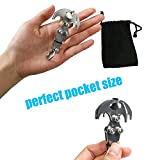 WREOW 2 IN 1 Pocket Size Gravity Hook,Stainless