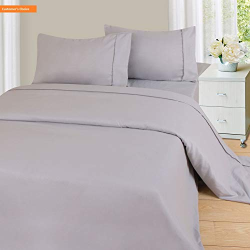 Mikash New Soft 1200 4-Piece Sheet Set, King, Silver | Style 84598409