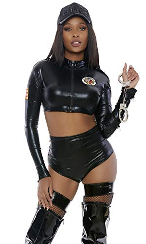 Forplay Cuff Me Up Sexy Cop Costume Black ()