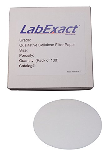 LabExact 1200297 Grade CFP6 Qualitative Cellulose Filter Paper, 3-4µm, 32.0cm (Pack of 100) by LabExact