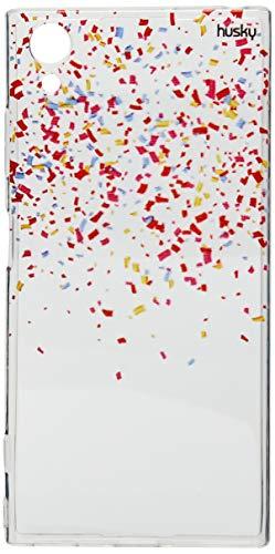 Capa Personalizada para Xperia XA1 Plus - Confetes, Husky, Proteção Completa (Carcaça+Tela), Colorido