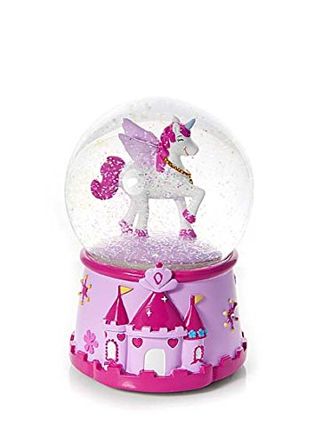 Mousehouse Gifts Snow Globe Music Box Princess and Unicorn Gift for Girls
