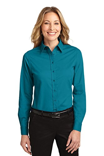 's Port Authority Ladies Long Sleeve Easy XL Teal Green ()