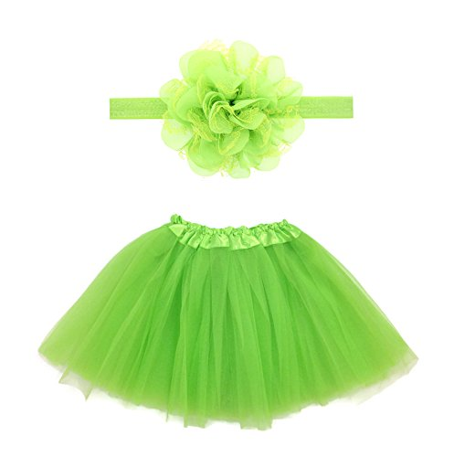 Rush Dance Boutique Costume Princess Ballerina Tutu & Top & Headband Gift Set (Kids (2-8 Years), Lime) (Set Princess Tutu)