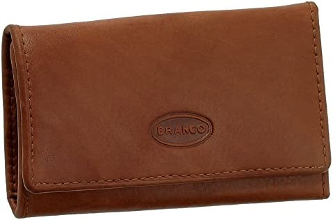 Piel Estuche llavero bolsillo para llaves Llave carpeta con 6 ganchos en plata imitación VERS. Colores Nuevo marrón: Amazon.es: Deportes y aire libre