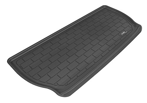 3D MAXpider Cargo Custom Fit All-Weather Floor Mat for Select Buick Enclave/Chevrolet Traverse Models - Kagu Rubber (Black) ()