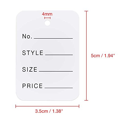 bf1618c7c15b G2Plus 1000 PCS Price Tags, Clothes size tags Coupon Tags - Import ...