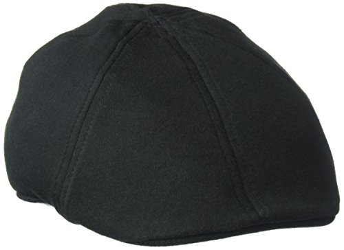 Sean John Men's Lightweight Cotton 6 Panel Flat Cap, Ivy, Black, Large/XLarge