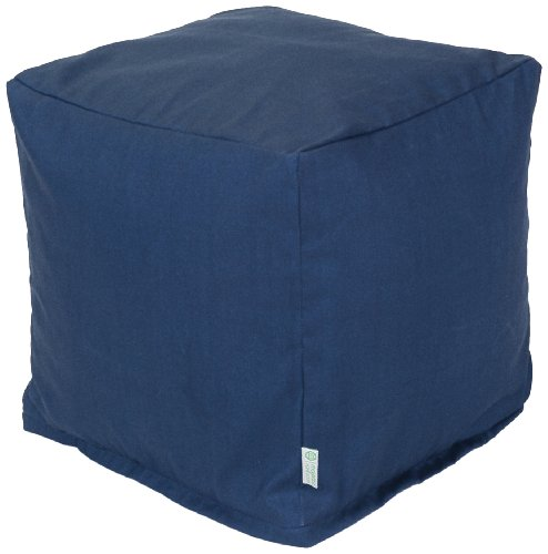 Majestic Home Goods Navy Blue Solid Cube, Small