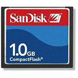 SanDisk 1GB Compact Flash Memory Card (Bulk) 1 Total Capacity 1GB MFG Code SDCFB-1024 Sandisk Original RED/BLUE Label