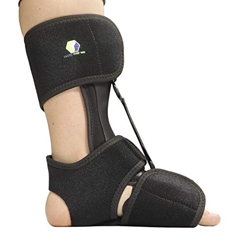 Comfort Dorsal Night Splint – Pain Relief from Plantar Fasciitis, Drop Foot, and Achilles Tendinitis – Large