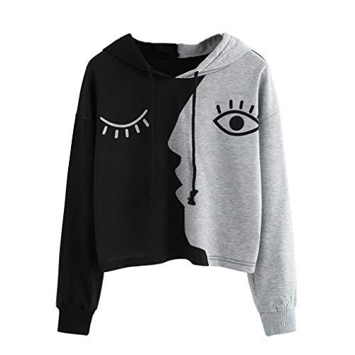 Amazon.com: Clearance! Women Long Sleeve Hoodie Sweatshirt Daoroka Patchwork Short Autumn Winter Tops (3XL, Gray): Toys & Games