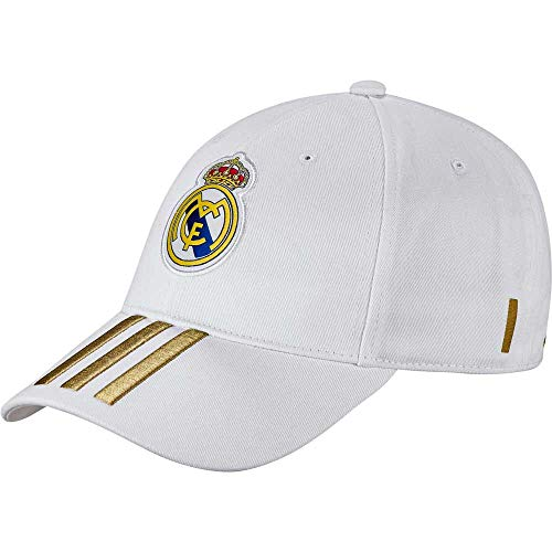 adidas Real 3s Cap Home/away/3rd Baseball Caps, White/Dark Football Gold, One Size