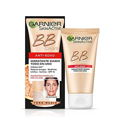 Garnier-Skin-Active-BB-Cream-Anti-edad-Crema-Hidratante-con-Color-con-Proteccion-Solar-SPF-15-Hidrata-Reduce-Arrugas-Unifica-e-Ilumina-Color-Tono-Medio-50-ml