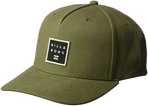 - Billabong Men's Stacked Snapback Military One Size