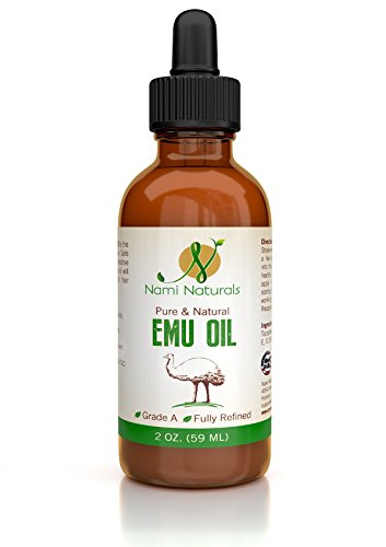 Nami Naturals Emu Oil - AEA Certified - Use for Hair, Skin Care, Stretch Marks - In Glass Bottle With Dropper - Use In DIY Cream, Lotion, Soap, Moisturizer, Shampoo, and Conditioner - Best Quality