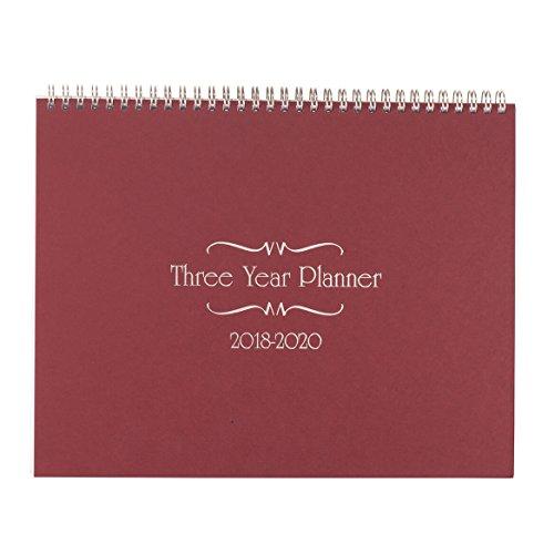 3 Year Calendar Diary 2018-2020 Burgundy