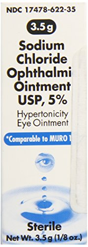 (Akorn Sodium Chloride 5 Percentage Ophthalmic Ointment 0 .12 Oz, 3. 5 Gm, Compare to Muro 128)