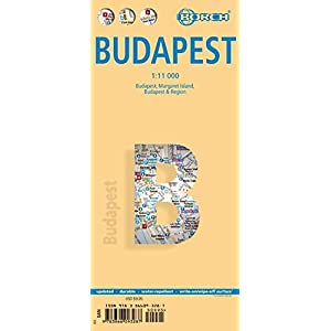 Laminated Budapest City Streets Map by Borch (English Edition)