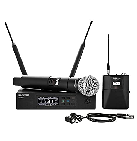 Shure QLXD124/85 Handheld and Lavalier Combo Wireless Microphone System with WL185 and SM58, G50 (Shure Ulx Wireless Microphone)