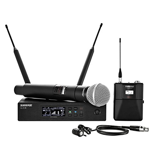 Shure QLXD124/85 Handheld and Lavalier Combo Wireless Microphone System with WL185 and SM58, G50