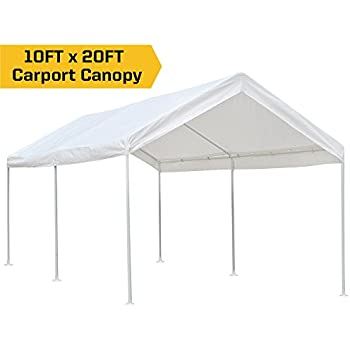 Amazon.com: KdGarden 10 x 20 ft. Carport Car Canopy Portable Garage ...