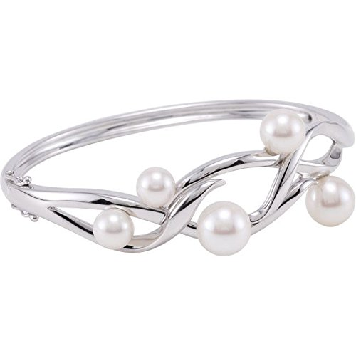 En argent Sterling 925 avec Bracelet perle de culture 16,5 cm - 9,5 mm-JewelryWeb