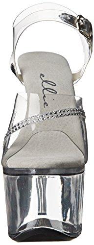 Ellie Zapatos Mujeres 711 Jewel Platform Sandal Clear