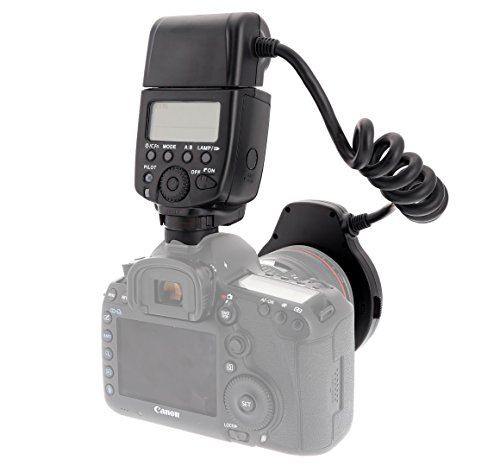Mcoplus マクロリングライトMK-14EXT E-TTL マクロリングフラッシュ LEDライト AFアシストランプ付 Canon 600D 550D 500D 1000D 1100D 50D 40D 450D 650 DDSLR カメラ用 8 取付用リング付属