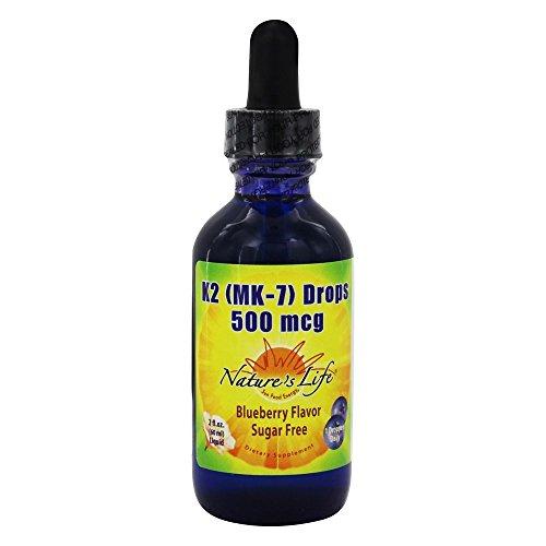 Nature's Life Vitamin K2 All Blueberry 500 Mcg, 2 Fluid Ounce