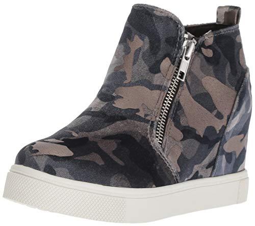 (Steve Madden Girls' JWEDGIE Sneaker, Metallic camo, 2 M US Little)