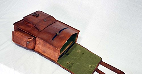 Echt Leder Handarbeit Messenger braun Vintage, Rucksack Herren Reisetasche