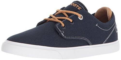 Lacoste Unisex-Kids Esparre Sneaker, Navy Canvas, 12. M US Little Kid